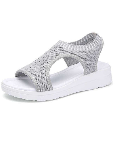 Women Summer White Platform Sandals-2