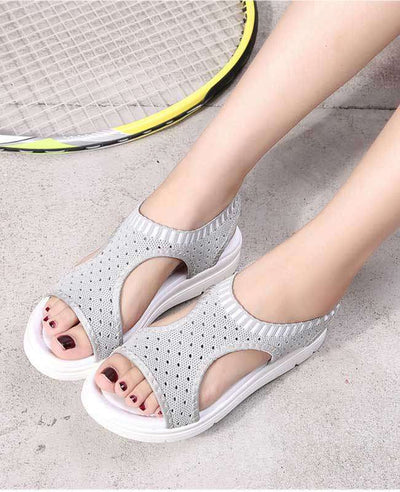 Women Summer White Platform Sandals-12