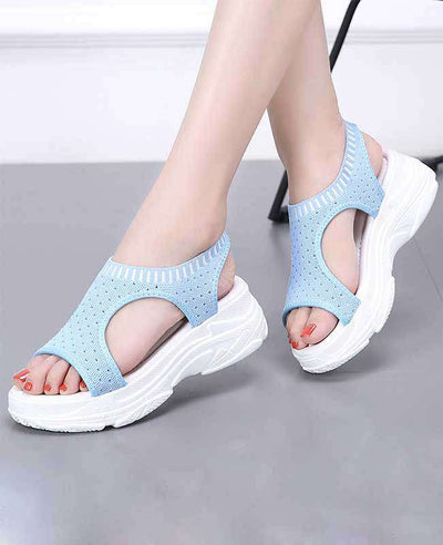Women Summer White Platform Sandals-10