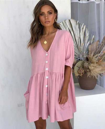 Short Sleeve Casual Summer Dresses