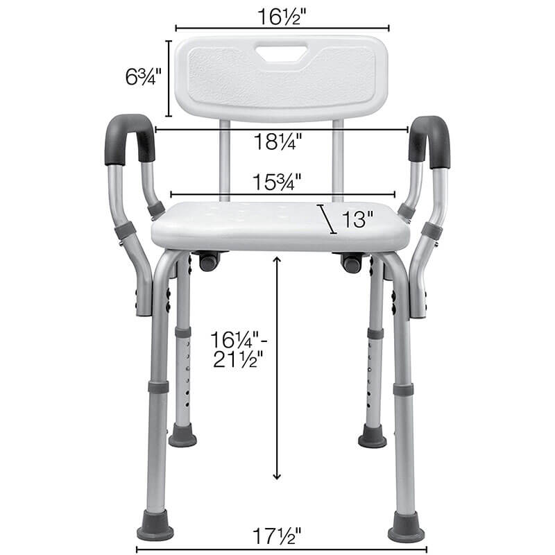 Shower Chair for Elderly With Arms and Back