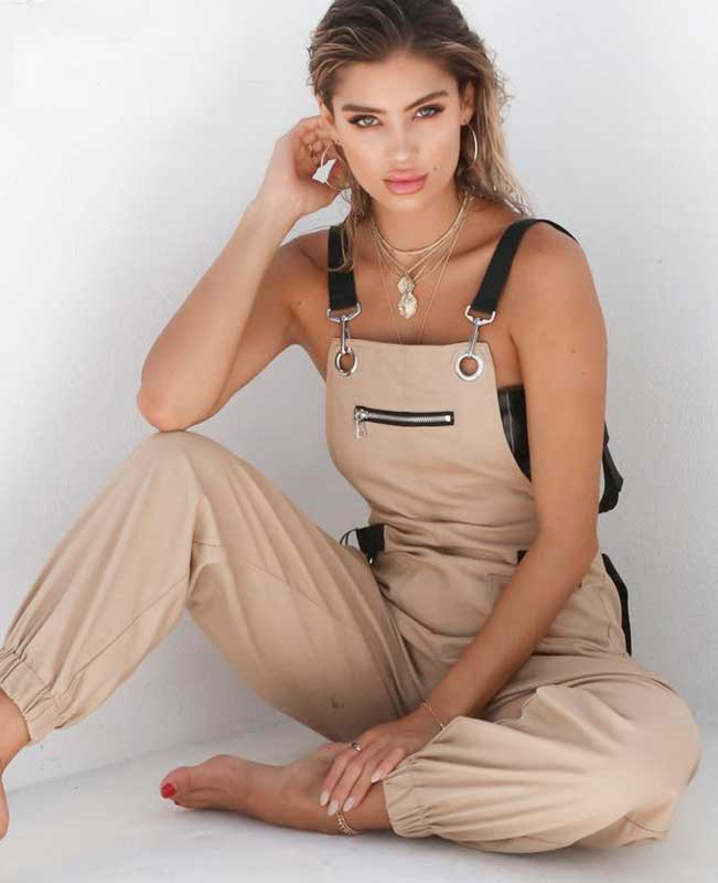 Sleeveless Adjusted Strap Petite Jumpsuit