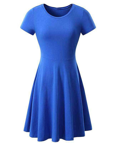 Solid Color Casual Summer Dress