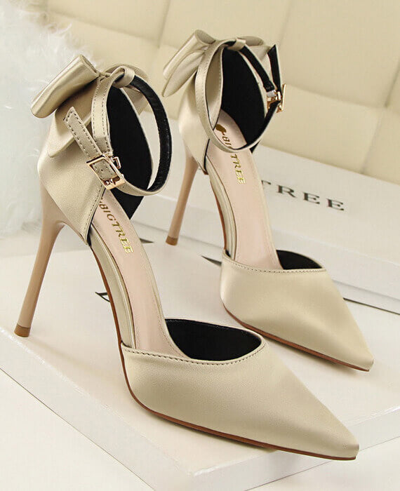 Sweet Butterfly-knot Thin High Heels Shoes