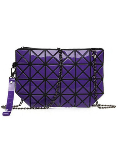 Plaid Laser Geometric Mini Clutch Crossbody Bags