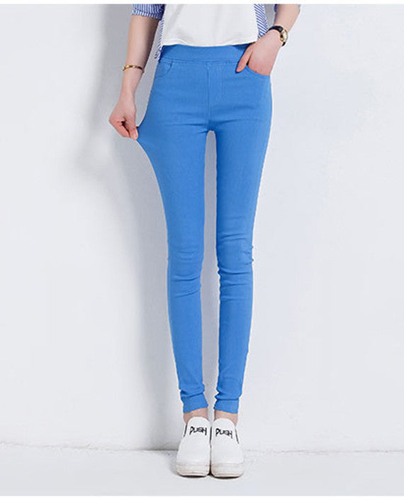 Candy Colored Skinny Stretch Pencil Pants