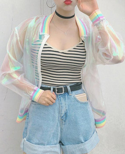 Clear Iridescent Transparent Jacket-1