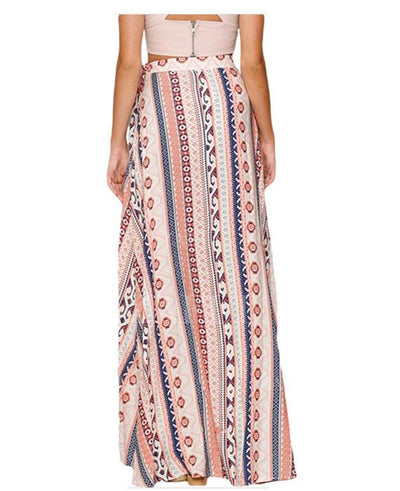 Floral Print Boho Tribal Maxi Summer Beach Dress