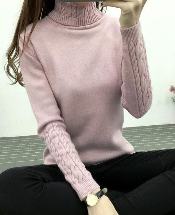 Cable Knit Turtleneck Thick Sweaters