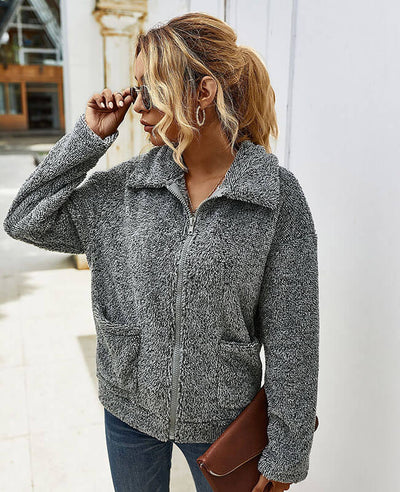 gray winter coat jacket