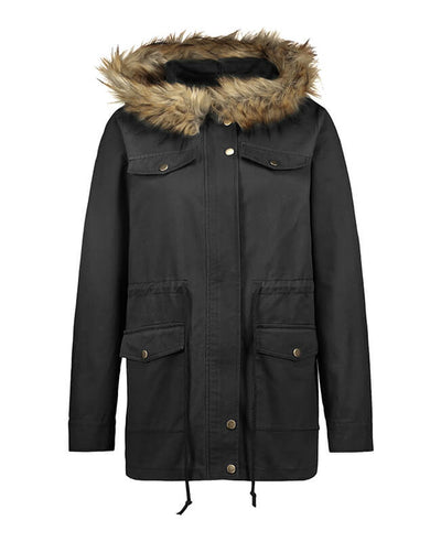 Winter Jackets for Women with Fur Hood Quilted Coat