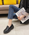 Women Loafer Leather Flats PU Non-slip Loafer