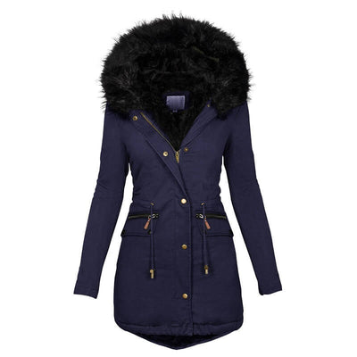 fur hood coat womens