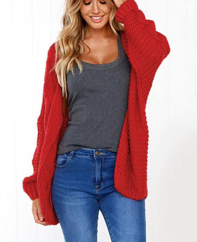 Oversized Knit Cardigan Baggy Sweaters-7