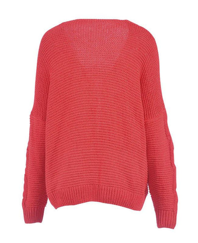 Oversized Knit Cardigan Baggy Sweaters-6