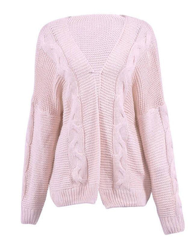 Oversized Knit Cardigan Baggy Sweaters-4