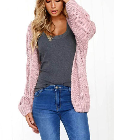 Oversized Knit Cardigan Baggy Sweaters-5