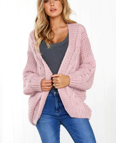 Oversized Knit Cardigan Baggy Sweaters-1