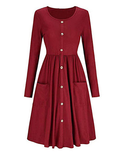 Shop midi swing dress at Seamido.com and receive free shipping over $35. Complete your wardrobe with our swing dresses.-5