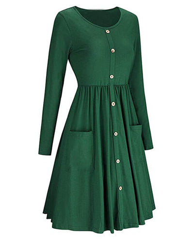 Shop midi swing dress at Seamido.com and receive free shipping over $35. Complete your wardrobe with our swing dresses.-8