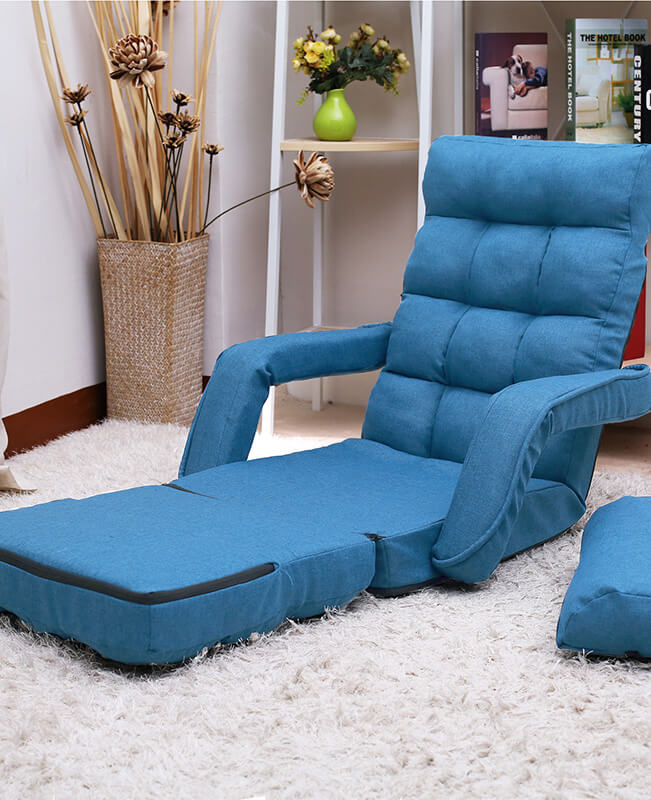 Floor Sofa Chair Lounger Bed with Armrests