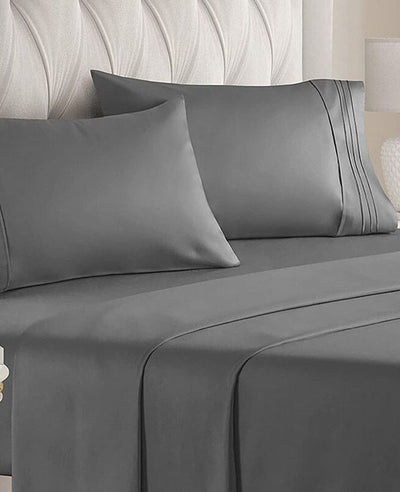 1800 Thread Count Sheets 4 Pieces King Queen Size Bedding Sets