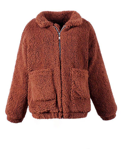 Furry Teddy Bear Coat-4