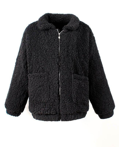 Furry Teddy Bear Coat-5