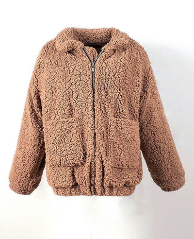 Furry Teddy Bear Coat-2