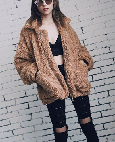 Furry Teddy Bear Coat-1