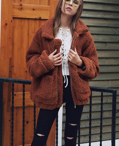 Furry Teddy Bear Coat-8