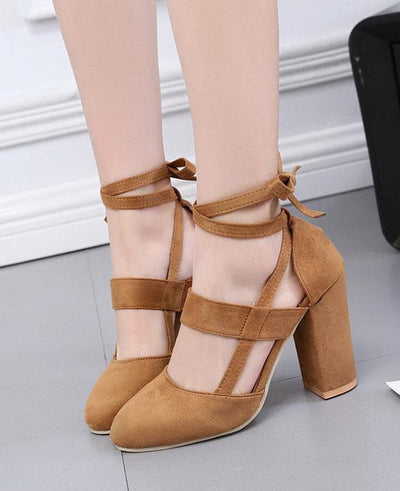 Gladiator Lace Up High Heels Sandal