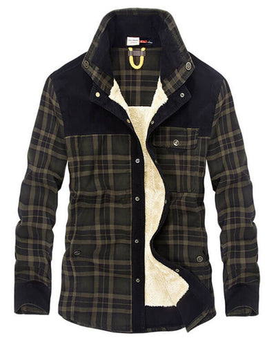 Plaid Thick Wool Flannel Shirts
