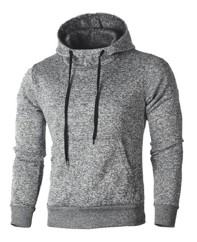 Drawstring Solid Color Hooded Pullover Hoodies