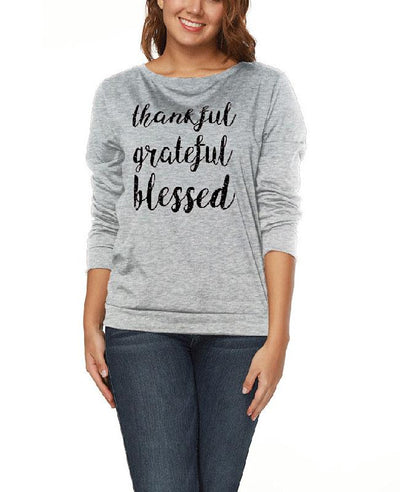 Long Sleeve Loose Letter Printed Tops