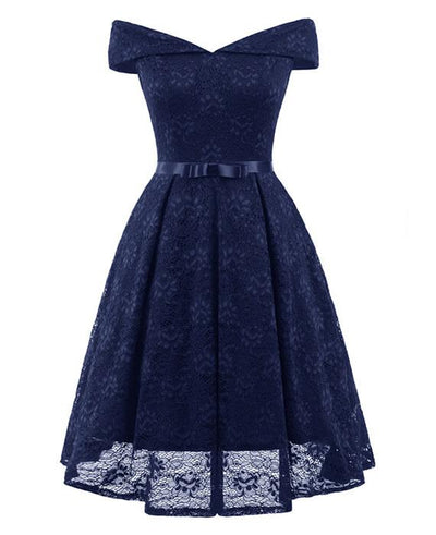50s Style Vintage Lace Retro Rockabilly Party Dress-5
