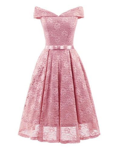 50s Style Vintage Lace Retro Rockabilly Party Dress-1