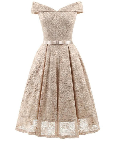 50s Style Vintage Lace Retro Rockabilly Party Dress-2