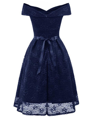 50s Style Vintage Lace Retro Rockabilly Party Dress