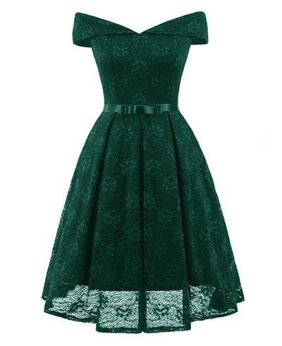 50s Style Vintage Lace Retro Rockabilly Party Dress-4