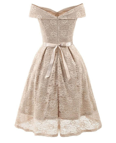 50s Style Vintage Lace Retro Rockabilly Party Dress-7