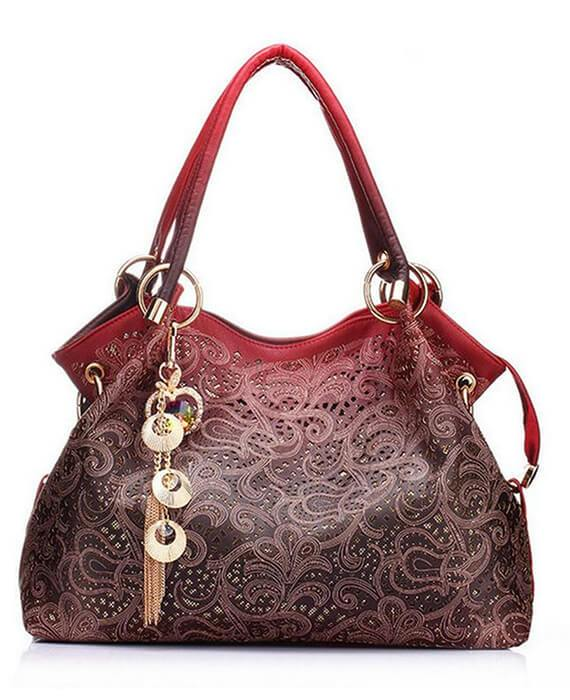 Beautiful Printing Flower Sweet Shoulder Bag