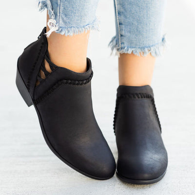 Chunky Heel Ankle Boots-2