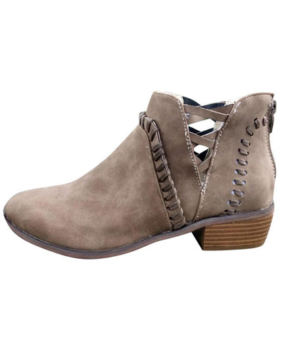 Chunky Heel Ankle Boots-5