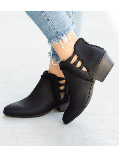Chunky Heel Ankle Boots-8
