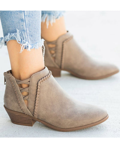 Chunky Heel Ankle Boots-1