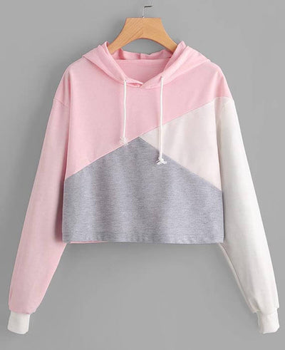 Pink Sweatshirt Cropped Sweatshirt