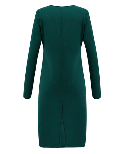 Deep V Neck Sexy Bodycon Dress-11