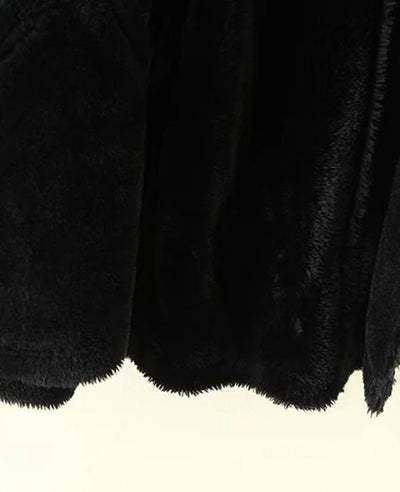 Faux Shearling Moto Jacket Coat