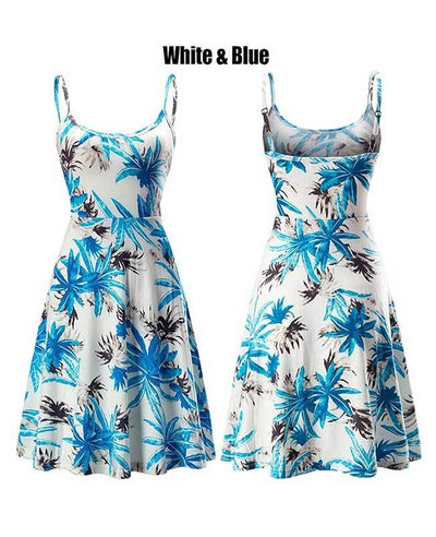 Floral Print Strappy Sleeveless Beach Dress